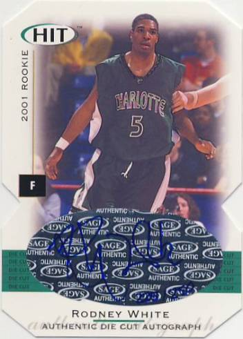 2001 SAGE HIT Autographs Die Cuts #A5 Rodney White