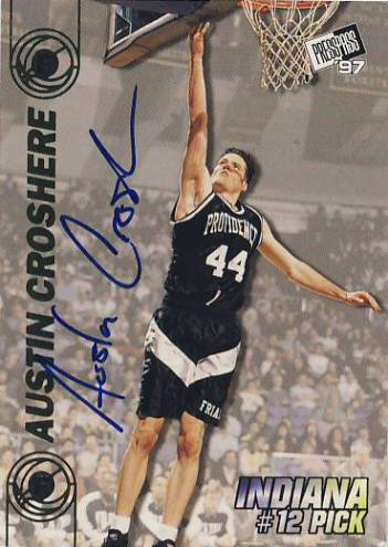 1997 Press Pass Double Threat Autographs #12A Austin Croshere