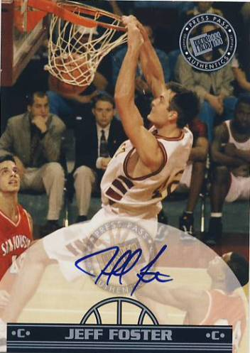 1999 Press Pass Authentics Autographs #14 Jeff Foster