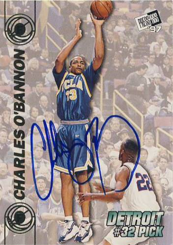 1997 Press Pass Double Threat Autographs #29A Charles O'Bannon