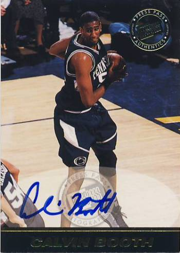1999 Press Pass SE Autographs #5 Calvin Booth