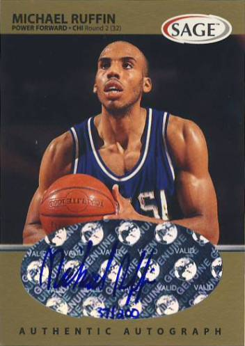 1999 SAGE Autographs Gold #A44 Michael Ruffin/200