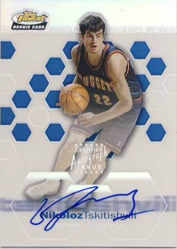 2002-03 Finest Refractors #174 Nikoloz Tskitishvili AU