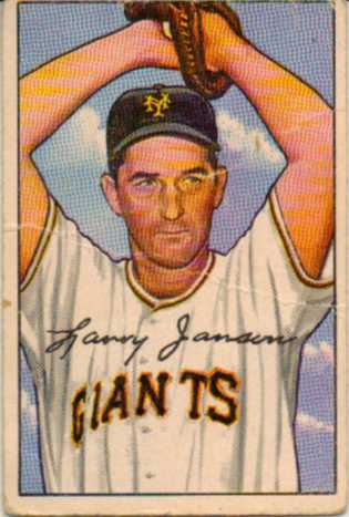 1952 Bowman #90 Larry Jansen