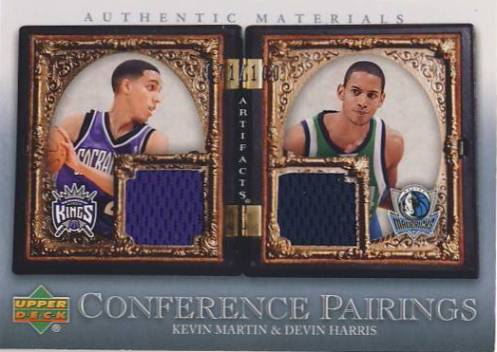 2007-08 Artifacts Conference Pairings #CPMH Kevin Martin/Devin Harris