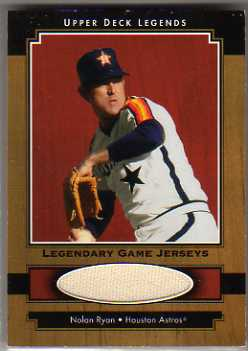 2001 Upper Deck Legends Legendary Game Jersey #JNR Nolan Ryan