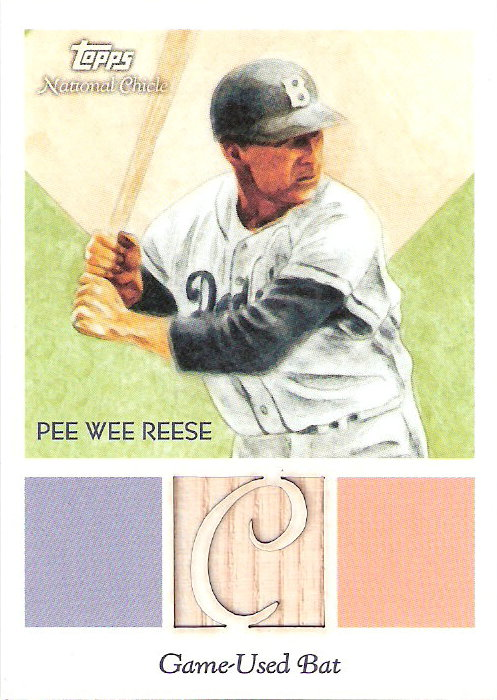 2010 Topps National Chicle Relics National Chicle Back #PWR Pee Wee Reese