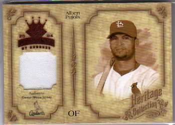 2004 Diamond Kings Heritage Collection Jerseys #17 Albert Pujols/50