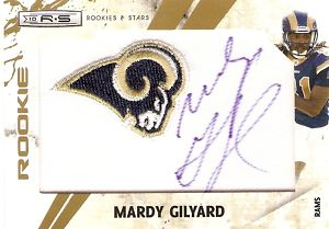 2010 Rookies and Stars #287 Mardy Gilyard AU/201 RC