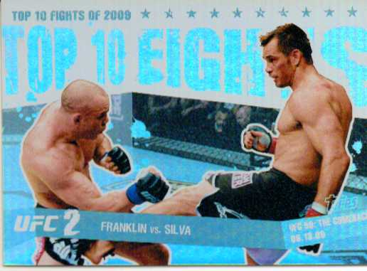 2010 Topps UFC Main Event Top 10 Fights of 2009 #4 Franklin/Silva