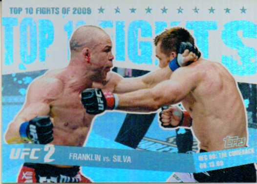 2010 Topps UFC Main Event Top 10 Fights of 2009 #6 Franklin/Silva