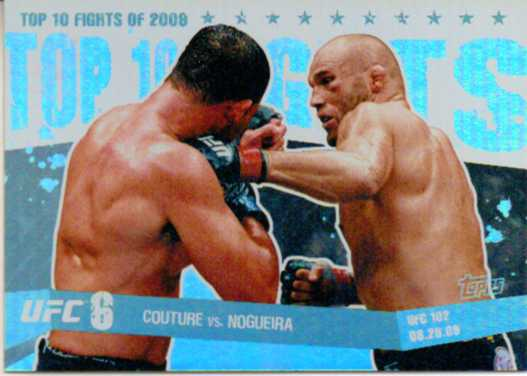 2010 Topps UFC Main Event Top 10 Fights of 2009 #17 Couture/Nogueira