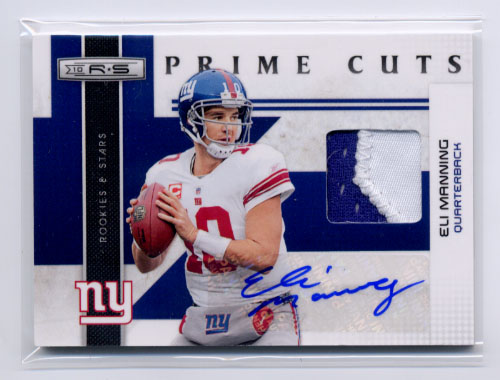 2010 Rookies and Stars Prime Cuts Autographs #7 Eli Manning