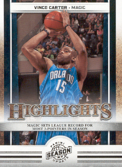 2009-10 Panini Season Update #9 Vince Carter HL