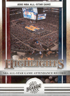2009-10 Panini Season Update #10 NBA All-Star Game/Attendance Record HL