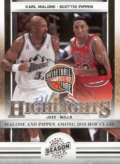 2009-10 Panini Season Update #12 Karl Malone HL/Scottie Pippen HL