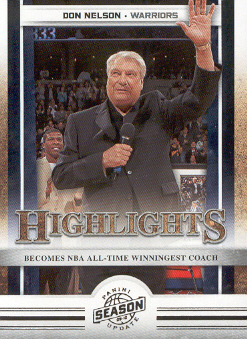 2009-10 Panini Season Update #15 Don Nelson HL