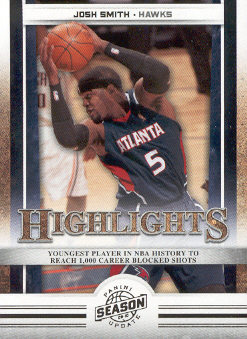 2009-10 Panini Season Update #16 Josh Smith HL