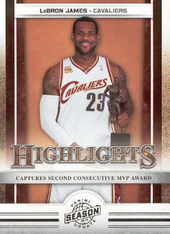 2009-10 Panini Season Update #18 LeBron James HL