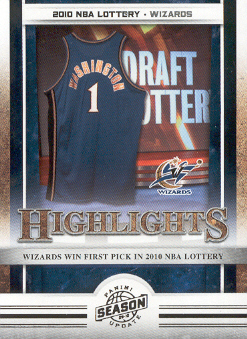 2009-10 Panini Season Update #19 2010 NBA Lottery HL