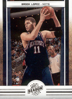 2009-10 Panini Season Update #27 Brook Lopez