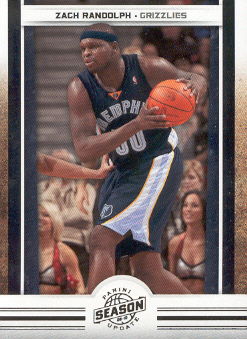 2009-10 Panini Season Update #58 Zach Randolph