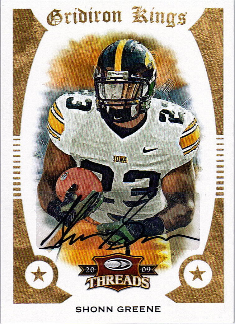 2009 Donruss Threads College Gridiron Kings Autographs #48 Shonn Greene/50