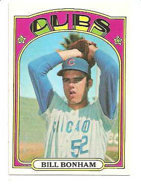 1972 Topps #29B Bill Bonham Green under C and S