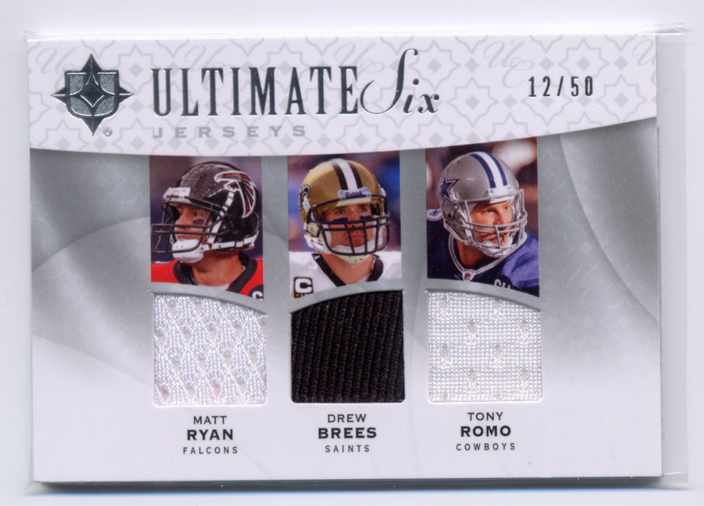 2009 Ultimate Collection Ultimate Six Jerseys #9 Marion Barber/Tony Romo/Drew Brees/Reggie Bush/Michael Turner/Matt Ryan