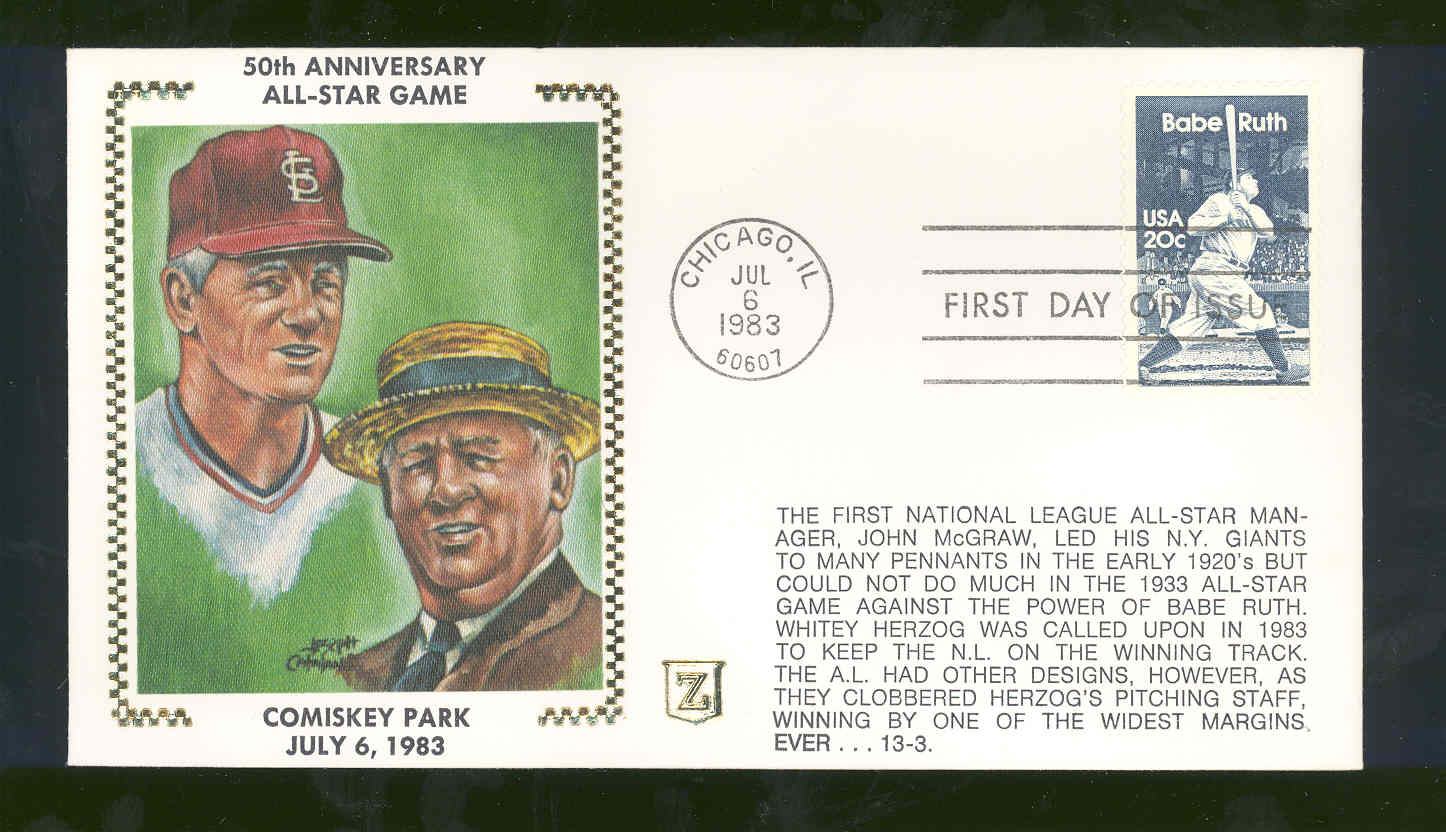 July 6,1983 First Day Cover 50th Anniversary/Comiskey Park 