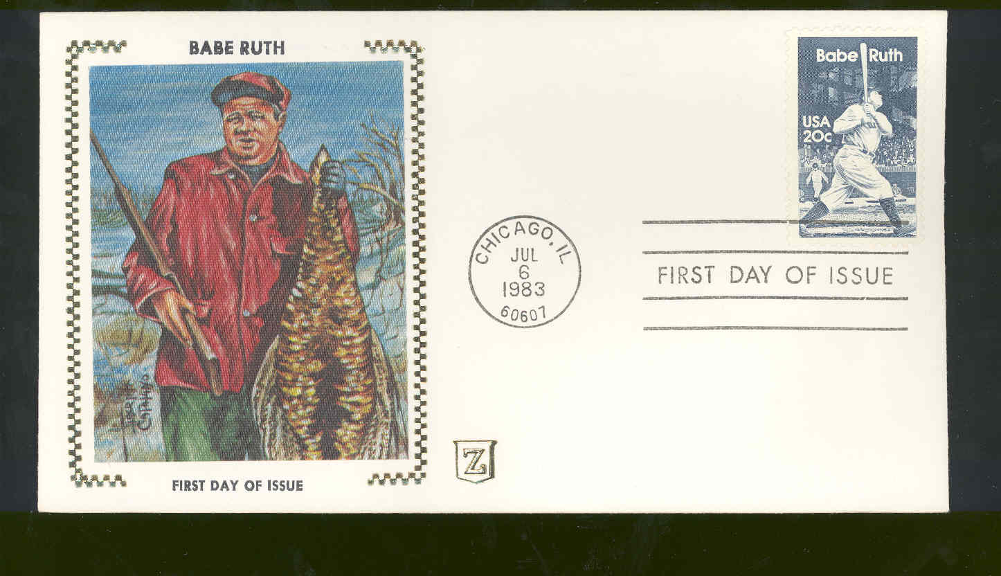 July 6,1983 First Day Cover Babe Ruth Hunting