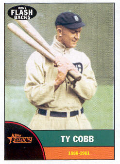 2010 Topps Heritage News Flashbacks #NF10 Ty Cobb