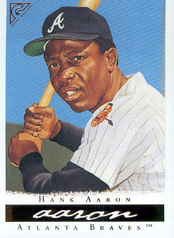 2003 Topps Gallery HOF #3 Hank Aaron Black Hat