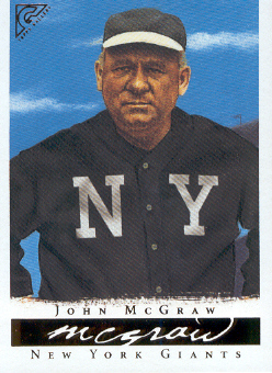 2003 Topps Gallery HOF #8B John McGraw MG NY Logo