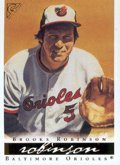 2003 Topps Gallery HOF #16 Brooks Robinson Yellow