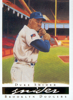 2003 Topps Gallery HOF #29B Duke Snider Flag Patch