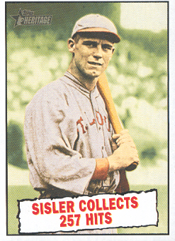2010 Topps Heritage #402 George Sisler BT