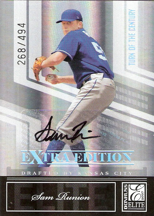 2007 Donruss Elite Extra Edition Signature Turn of the Century #38 Sam Runion/494