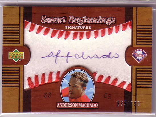 2002 Sweet Spot #134 Andy Machado T1 AU RC