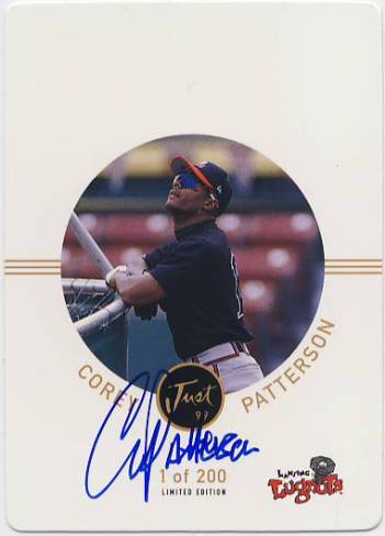 1999 Just Autographs Die Cuts #41 Corey Patterson PV