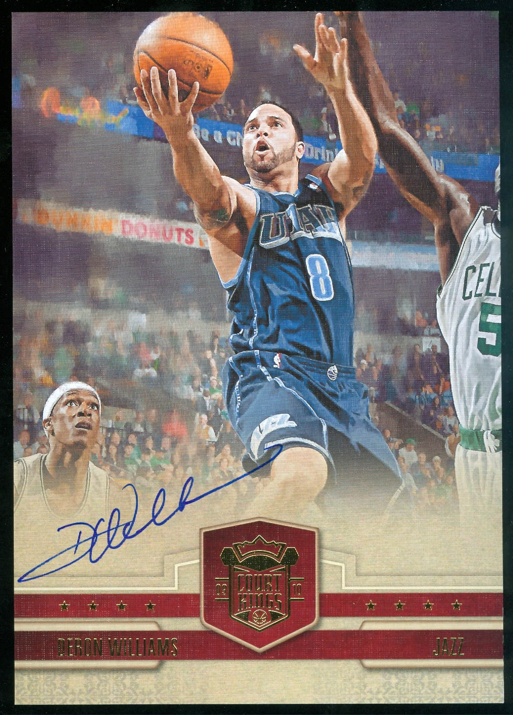 2009-10 Court Kings Jumbo Boxtoppers Autographs #35 Deron Williams/49