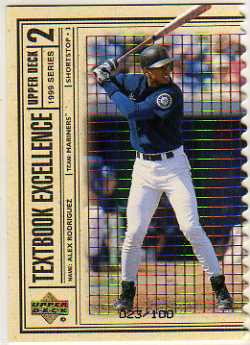 1999 Upper Deck Textbook Excellence Triple #T26 Alex Rodriguez
