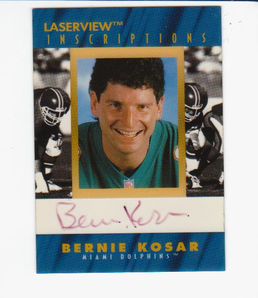 1996 Laser View Inscriptions #15 Bernie Kosar/3200