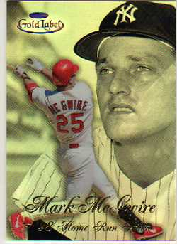 1998 Topps Gold Label Home Run Race Black #HR2 Mark McGwire