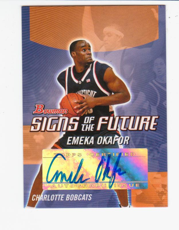 2004-05 Bowman Signs of the Future #EO Emeka Okafor