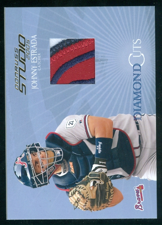 2005 Studio Diamond Cuts Jersey Prime #17 Johnny Estrada/10