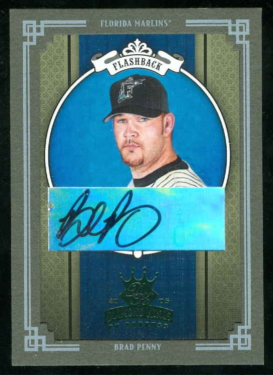 2005 Diamond Kings Signature Framed Green #269 Brad Penny Marlins/5