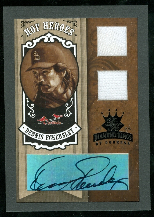 2005 Diamond Kings HOF Heroes Signature Materials Framed Black #48 Dennis Eckersley Jsy-Jsy/10