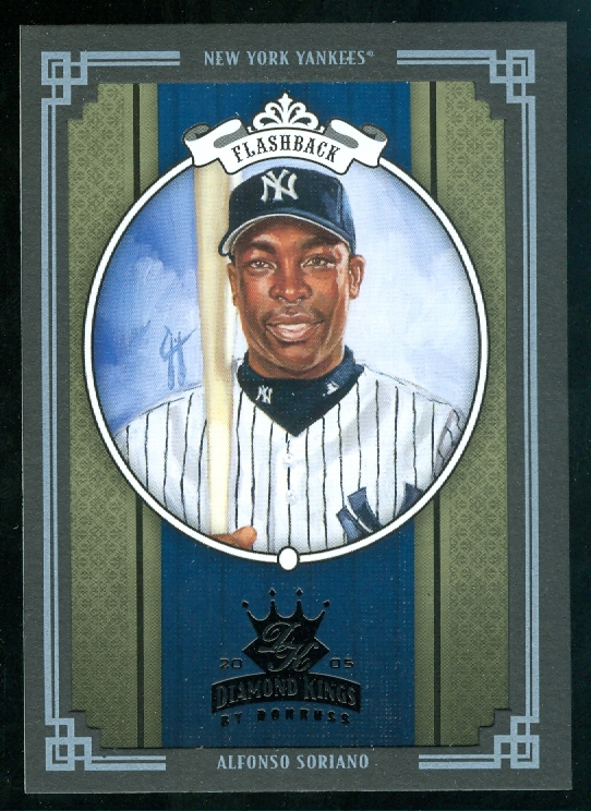 2005 Diamond Kings Framed Black #279 Alfonso Soriano Yanks