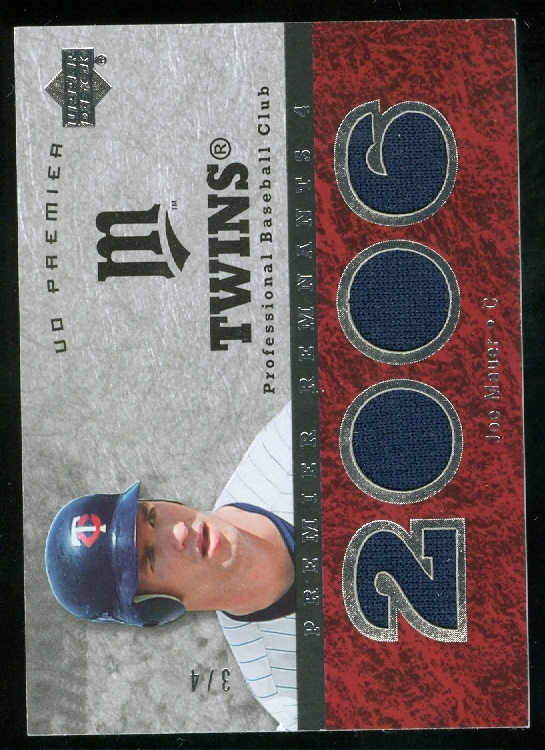 2007 Upper Deck Premier Remnants Quad #JM Joe Mauer/4